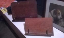 Two wooden book holders in excellent condition. £5 for