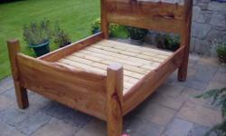 Lovely unique handmade King size bed made from Scottish