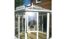 upvc conservatory very rare shape o dwarf wall needed