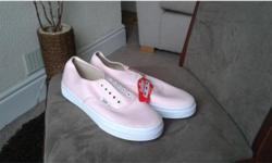 Vans pink canvas shoe brand new never worn also
