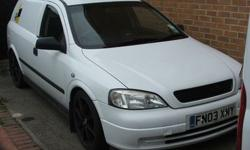 Here is for sale is an Astra 03 reg van, bought at the