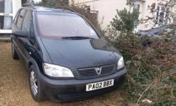 selling a zafira 1.6 club due to my husband buying it