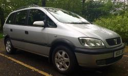 This is our beloved 7 seater 2002 VAUXHALL ZAFIRA