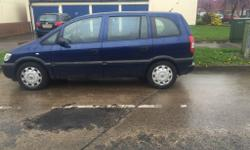 Vauxhall zafira 7 seater blue, spares or repair, 03