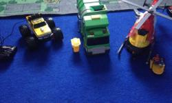 Good condition bin lorry, helicopter (needs new