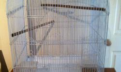 Very nice white metal bird cage . great condition great