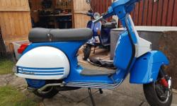 Very clean n tidy px125 standard scoot apart from sip