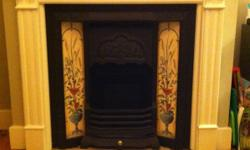 Beautiful, original Victorian cast iron fireplace with