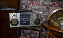 Perfectly working, vintage Boombox JVS model Portable