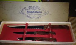 3 vintage sets of Peeredge Sheffield cutterely 1925