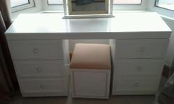 Vintage syle dressing table with mirror. Ideal shaby