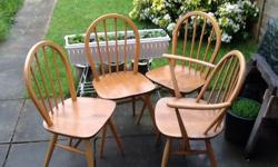 Four ercol Windsor chairs item have some wear rub marks