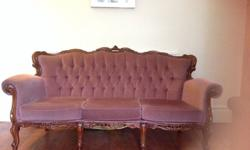 Lovely & comfortable sofa with two matching chairs in a