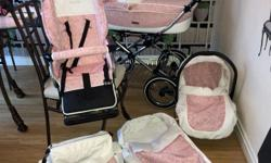 VINTAGE ROSE PRESTIGE PRAM, PAID £600 11 WEEKS AGO