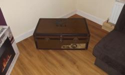 Genuine Vintage Steamer Trunk from the golden age of