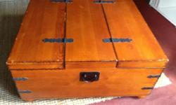 Lovely Antique Pine Trunk / Chest Dimensions : length -