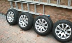 VW Golf Alloys , 5 stud , plus tyres 2 legal , 2 at