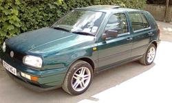 vw golf ,mot ,sunroof ,1.4, 1997 mk 3, 4 door,drive