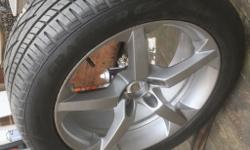 VW transporter t5 18inch alloys with tyres 10mm tread