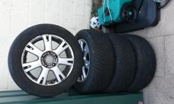 set of four wv touareg 18 inch alloy wheels will fit vw