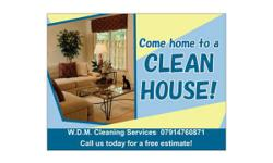 W.D.M Cleaning Services Professional cleaner with