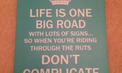 Life is one big road Green Hanging wall art canvas