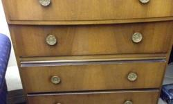 Wall nut veneer drawers in a good solid clean condition