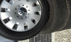 Vw wheels and tyres set of 4 in very good condition .