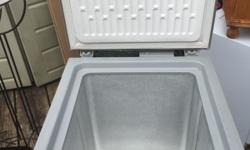Good condition freezer 3.6 cubic feet. Wcn3-8/ silver