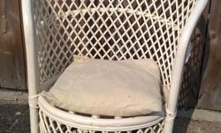 For sale.....a painted Basket chair ideal for garden,