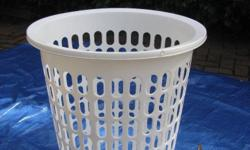 Plastic Laundry Basket. Very Good Condition. Hardly