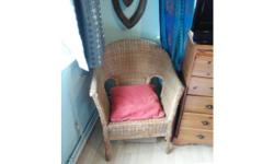 Mint condition large wicker chair for sale. Really