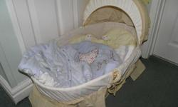 Moses basket in Poly Cotton for your little one is a