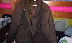 Winter jacket size 20 nice and clean dark brown free