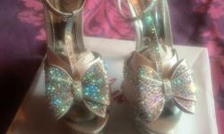 Brand new diamante heels. Size 6, were bought for my