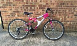 Full Suspension mountain bike. 15 Gears (Sunrace) Good