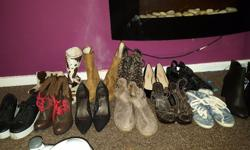 Assortment of ladies shoes size 6 and 7. To sell as a
