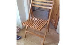 Vgc wooden folding chair pls text me if interest thanks