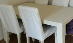 For sale i have a shabby chic style dinibg room table