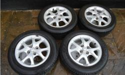 "x4 14"" 7 Spoke Toyota Yaris Alloys + Tyres Size: 175/65"