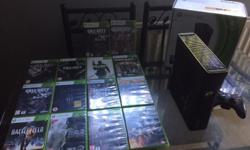 X box 360 with 14 games including GTA 5, call of duty,