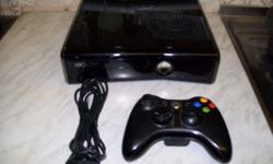 Xbox 360 with 250gb of free space and hardly used. It
