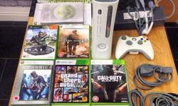 Here for sale is my Xbox 360 elite bundle in white