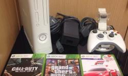 Here for sale is my Xbox 360 slimline bundle in white