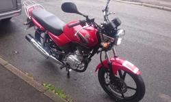 Yamaha YBR 125cc 2009 09 In very clean red, 19,000