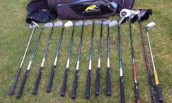 Set of Yonex golf clubs, average condition and with a