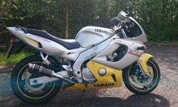 Here i have my yamaha yzf 600, its done 39000 miles